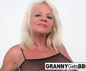 Blonde Mature Opens her Ass with a Toy and a BBC