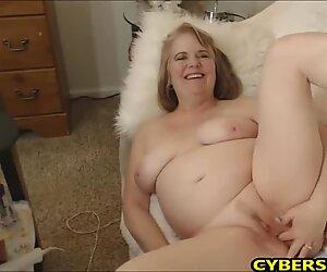 Lovley Granny Masturbates