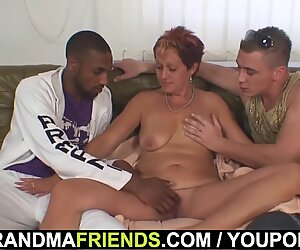 Grandma threesome