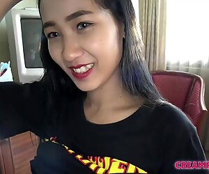 Japan man creampies thai sexy girl in hot sex scene