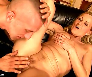 Mature and yet horny Kate is having fun with a young boy and his pepper