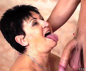 Grandma Anastasia on young cock