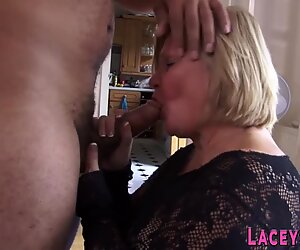 Fucked grandmother sucks black cock